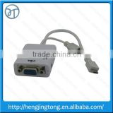 White Micro USB To VGA MHL Adapter + Audio Output Cable For Samsung Galaxy S3 i9300