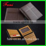 Personalized and durable fancy genuine leather wallets for men with cross shape press design