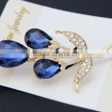 2015 vintage korean cheap imitation gemstone ladies rhinestone fashion brooches and pins backs uk