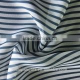 black white stripe print chiffon fabric for women blouse sandal scarf