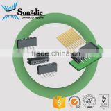 right angle dual contacts 1.0mm pitch FPC to FFC wire connector 3 4 5 6 7 8 9 10 11 12 13 14 15 16 17 18 19 pin way