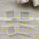 Lots 1.7*3.1cm Single Rectangle Grid Transparent Craft Bead & Jewelry Storages and Displays Box