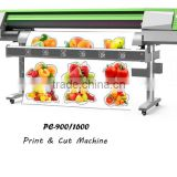 Glossy photo paper, adhesive vinyl, PVC Printing & Cutting Plotter, 914mm Print Width, 4 Colors CMYK Printer & Cutter