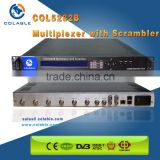 8 in 1 Multiplexer Digital tv scrambler with Up to 2-4 CAS