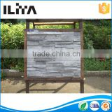 Interlocking plastic brick panels for walls decorative brick stone panel made by silicone molds