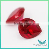 New Product&Best price 6*8mm pear cut 8# synthetic corundum dove blood lab created ruby stone