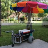 TC2023 With beach bolloon wheel Large aluminum beach fishing utility cart