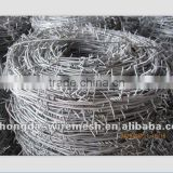 galvanized barbed wire