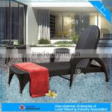 A - patio rattan furniture stylish rattan chaise lounger beach lounger 2063L