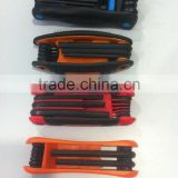 40Cr plastic handle folding hex key wrench set allen square key wrench