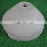 Decorative round concrete block for clothes-hanger