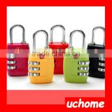 UCHOME Christmas Gift Colorful Custom Travel Secure Code TSA Lock, Luggage 3 Digital Combination TSA Code Lock Padlock