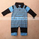 Hot selling baby clothes with polo neck,high quality baby romper