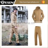 19 Colors Softshell Military Uniform Outdoor Camping Hiking Waterproof Tactical Jacket and Pants Hunting Suit