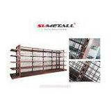 Metal Retail Store Display Shelves With Wire Mesh Back Panel for Shop Decoration