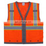 Hi-vis EN20471 disposable work safety vest with pockets