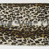 Leopard print scarf with tassels,Animal print silk pashmina wool shawls, Hand-woven, made of 50% silk and 50% pashmina wool