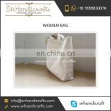 Wholesale Selling of Shoulder Cosmetic Tote Canvas Bag at Low Price