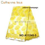 Catherine Alibaba China Market Yellow African Bridal French Lace Fabric