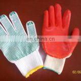 nature white cotton knitted glove rugged-wear-gloves for industry manufacture in gaomi