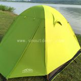 4 Man Dome Tent Waterproof Green Doule Layer For Camping And Hiking