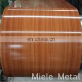 House plans wood grain/wooden color coated aluminum sheet coil RAL color
