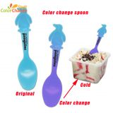 BPA free heat sensitive color change plastic baby spoon