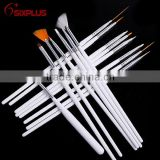 15 Pcs White Acrylic Nail Brush/Nail brushes 15 pcs/Nail brushes tool set                                                                         Quality Choice