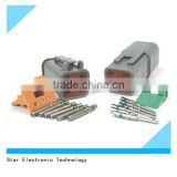 Most popular dt series 6 pin male female deutsch auto connector DT04-6P and DT04-6S with roll terminals