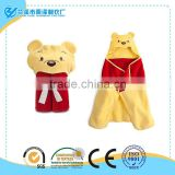 Customized Cute Cashmere Terry Gift Hooded Animal Baby Bathrobe/Baby Hooded Animal Embroidered Bathrobe Towel