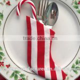 Stripe Mini Stocking Silverware Holders