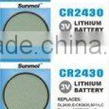 CR2430 button cell battery