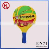Portugal Hot sale Custom sticker printing Wooden Beach Tennis Racket /beach bat /beach paddle set with beach ball wholesale