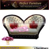Franch beautiful leather bedroom sofas set for wedding PFS60526