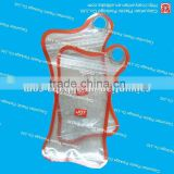 special shape plastic packaging bag with hanger hole/special color design custome package bag