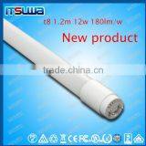 DLC listed high lumens low wattage t8 led tube light t8 led tube light 1.2m 12w saving energy led light energy star for US