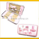 Colorized pattern bag promotional gift manicure set