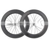 2016 carbon track bike wheelset track wheels 88mm tubular road bike track wheel Novatec hub