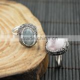 LFD-008R ~ Wholesale Druzy Stone Pave Rhinestone Rings Jewelry Finding