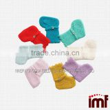 100% Pure Cashmere Multi-color Hand Crochet Baby Socks Gift