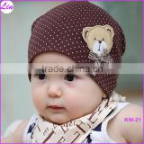Cute Winter Autumn Newborn Crochet warm Cotton Baby beanie Hat Girl Boy Cap Children Unisex Bear Infant