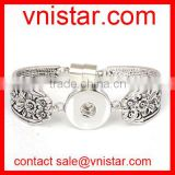 Vnistar interchangeable snap button bangle jewelry with magnetic closure wholesale VSB134