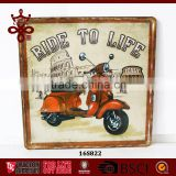 Metal plaque factory wholesale high quality decoration plaque with car license plate