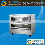 China energy saving 2 decks 4 trays industrial kitchen appliances baking oven for bread and cake used in hotel & restaurant