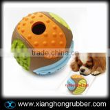 Eco-frinendly rubber dag toy ball