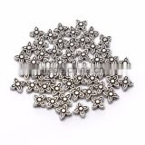 Top Quality 7mm Four-Leaf-Clover Tibetan Silver Flower Metal Spacer Beads 50pcs per Bag For Jewelry Making Findings