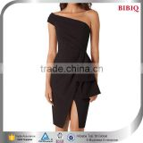 one piece black dress little short party dresses one shoulder evening designer dresses from china