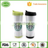 Factory Promotional Plastic Travel coffee Mug With Photo Paper Insert                                                                         Quality Choice