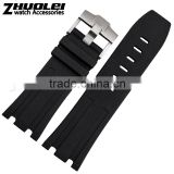 New Arrival Waterproof Black Silicone Rubber WristWatch watch Strap Band Replacement 28mm