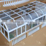 Suppliers of direct selling aluminum double-layer glass houses/garden sun rooms/greenhouse